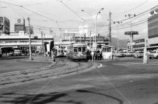 広島電鉄 市内線 広島駅前停留所 1975年11月