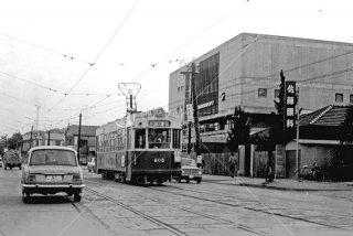 山陽電気軌道 長府駅行805 1967年3月