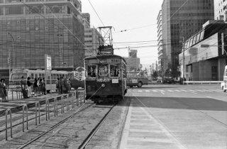 西鉄 博多駅前 福岡市内線 500形514 1975年11月