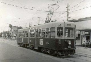 西鉄331 北方車庫 昭和39.7 1964
