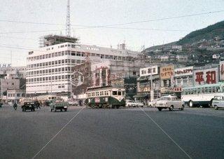 長崎電気軌道 長崎駅前 1963年11月