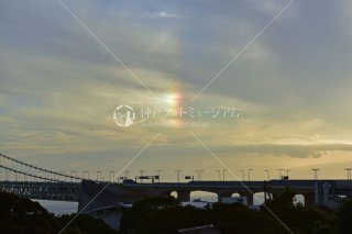 縦の虹 明石海峡大橋