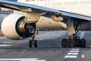 飛行機 離陸前 ジェットエンジン