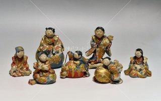 童と猫 江戸後期小型飾り人形