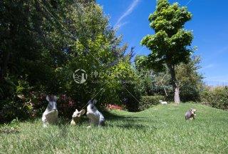 メルヘンの庭 ウサギ ハリネズミ 羊 舞多聞