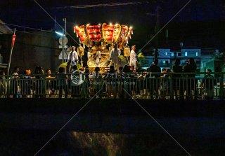 海神社秋祭 東高丸布団太鼓巡行 東垂水町福田川 流田橋 令和元年