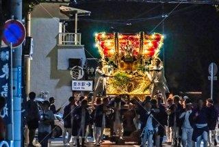 海神社秋祭 東高丸布団太鼓巡行 泉が丘 令和元年