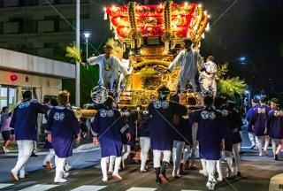 海神社秋祭 東高丸布団太鼓巡行 泉が丘平尾交番 令和元年