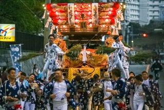 海神社秋祭 塩屋布団太鼓巡行 イオンジェームス山前 令和元年
