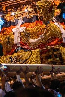 海神社秋祭 塩屋布団太鼓差し上げ イオンジェームス山前 令和元年