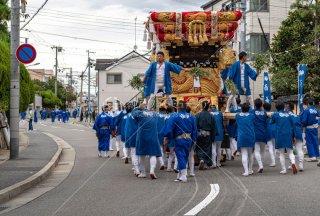 海神社秋祭 西垂水布団太鼓巡行 瑞ヶ丘 令和元年