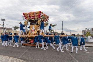 海神社秋祭 西垂水布団太鼓巡行 鈴木橋 令和元年