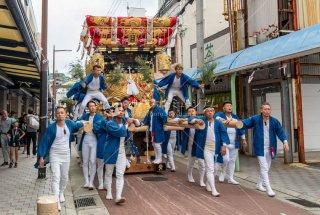 海神社秋祭 西垂水布団太鼓巡行 銀座通り 令和元年