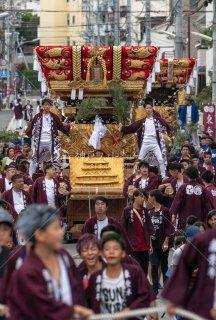 海神社秋祭 東垂水布団太鼓巡行 川原 令和元年