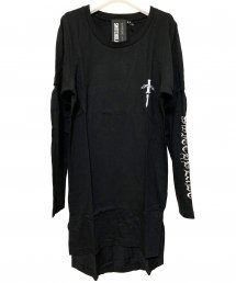 SWITCHBLADE(スイッチブレード)EMBROIDERY LAYERED L/TEE 【BLACK】
