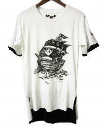 BLACK HONEY CHILI COOKIE(ブラックハニーチリクッキー)Pirate Ship Tee 【White】