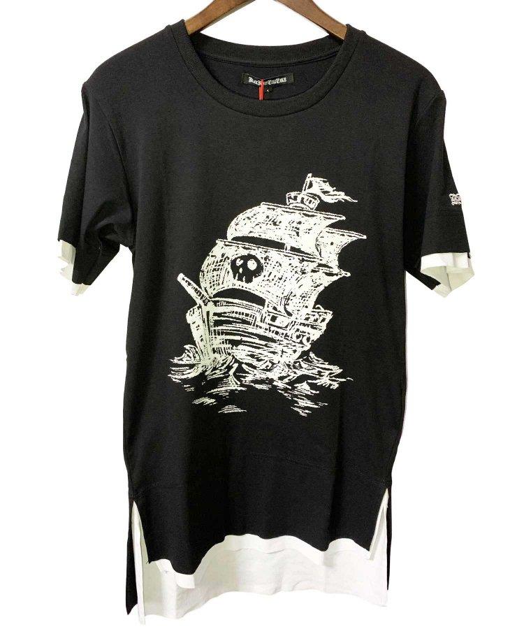 BLACK HONEY CHILI COOKIE(ブラックハニーチリクッキー)Pirate Ship Tee 【Black】