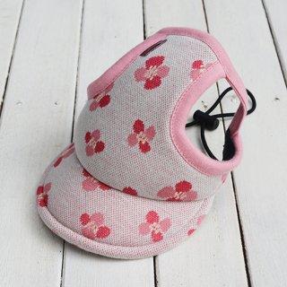キャップ【花】(ピンク)