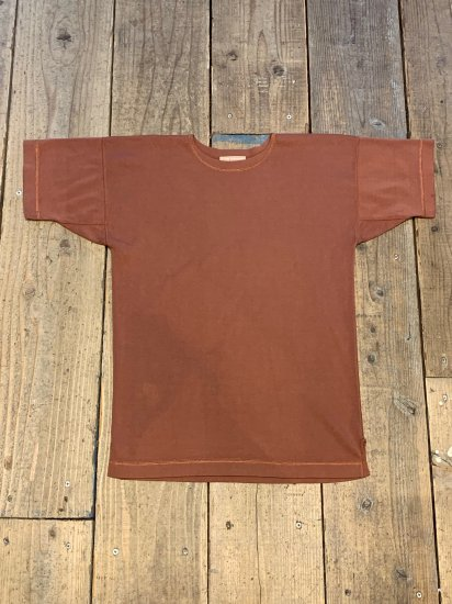 OLDE HOMESTEADER/CREW NECK SHORT SLEEVE - HEAVY WEIGHT RIB / ROSE WOOD
