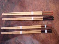 竹 研ぎ出し丸箸 赤小