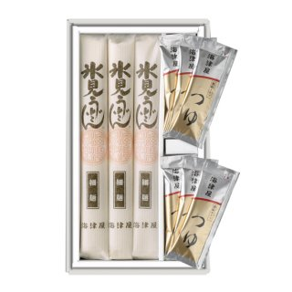 【氷見うどん海津屋】 細麺つゆ付きセット(細麺3本・つゆ6袋)(贈答用)