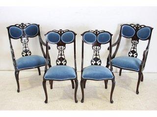 dn-4 1890年代 イギリス製 アンティーク ビクトリアン マホガニー ダイニングチェア 椅子