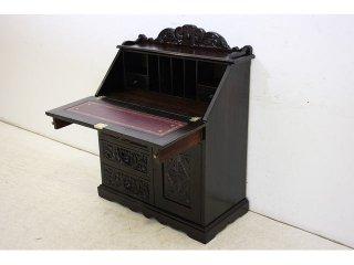 wd-6 1880年代 イギリス製 アンティーク ビクトリアン オーク グリーンマン ライティングビューロー