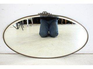 mr-44 1890年代 イギリス製 アンティーク ヴィクトリアン ブラス ウォールミラー 壁掛け鏡