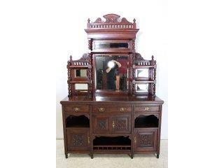 ce-14 1880年代 イギリス製 アンティーク ビクトリアン オーク エンパイヤキャビネット