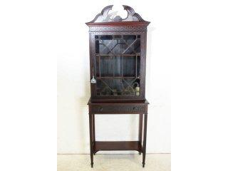 bk-8 1890年代 イギリス製 アンティーク ビクトリアン マホガニー チッペンデールスタイル ブックケース 書棚 本棚