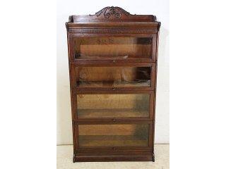 bk-23 1920年代 イギリス製 アンティーク オーク スタッキングブックケース 本棚 書棚 本箱
