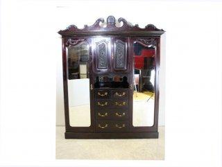 wr-5 1890年代 イギリス製 アンティーク ビクトリアン マホガニー エンパイヤ ワードローブ