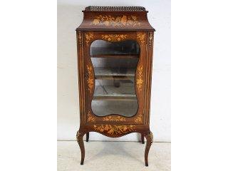 ce-11 1890年代 イギリス製 アンティーク ヴィクトリアン ローズウッド ルイ15世スタイル インレイド キャビネット
