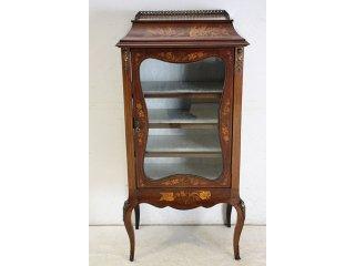 ce-31 1890年代 イギリス製 アンティーク ヴィクトリアン マホガニー ルイ15世スタイル インレイド キャビネット