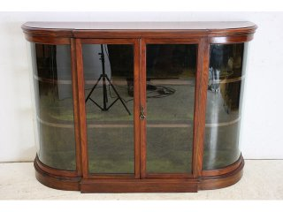 ce-56 1890年代 イギリス製 アンティーク ビクトリアン マホガニー クレデンツァ ショップショーケース