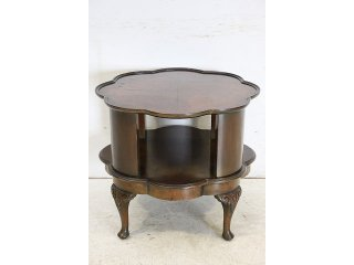 ct-6 1940年代イギリス製アンティーク ウォルナット 回転式 コーヒーテーブル ローテーブル