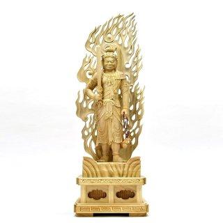 楠木【不動明王立像】 立1.0尺 総高63cm