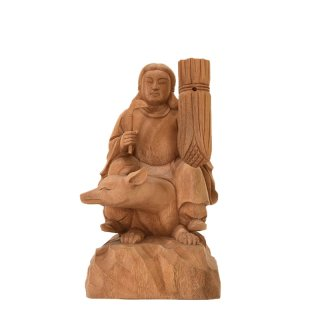 稲荷大神【最上位経王大菩薩(最上尊)】 楠木(クスノキ) 坐3.0寸 総高22.5cm