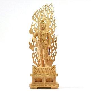 桧木【不動明王立像】 立1.0尺 総高63cm