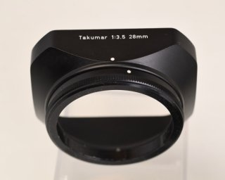 【B】PENTAX Takumar 1:3.5 28mm  角型メタルフード オリジナルケース付き[M42スクリューマウント/フィルター径49mmのレンズ用・広角レンズ用]