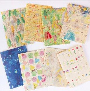 カラフルな糸綴じノート