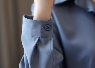 シンプル シャツ 長袖 通勤 オフィス キレイめ 20代 30代