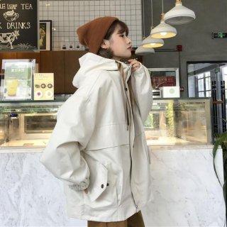 ジャケット アウター オーバーサイズ フード付き カジュアル オシャレ