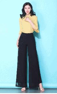ロング ワイドパンツ 大きいサイズ 黒 レディース 夏 パンツ