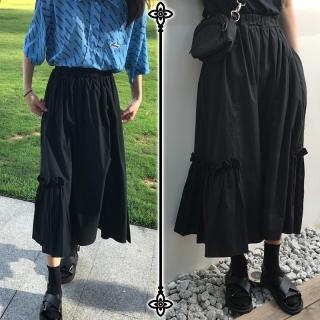 ペプラムスカート フリル スカート レディース マキシ丈 黒 夏服 ひだ ロング丈 ゆったり 40代 50代 きれいめ