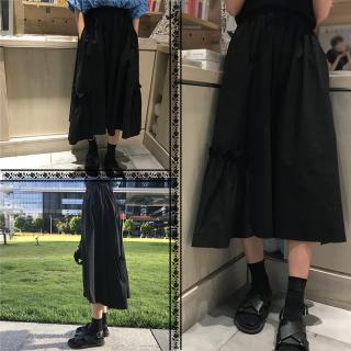 ペプラムスカート ロング スカート レディース マキシ丈スカート 黒 夏服 Aライン フレア 40代 50代 きれいめ