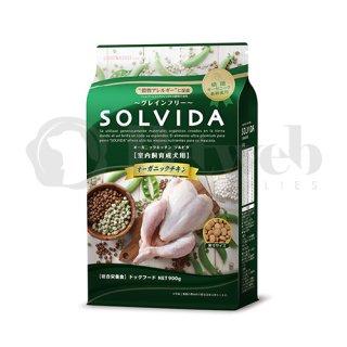 ソルビダ SOLVIDA オーガニック 室内飼育成犬用 オーガニックチキン 3.6kg 穀物不使用 グレインフリー
