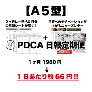 スタンダードPDCA日報【A5】