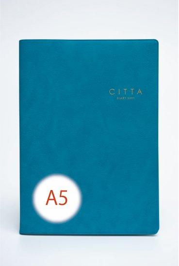 【先行予約販売】CITTA手帳<br/>2021年度版(2020年10月始まり)<br/>A5 シーブルー