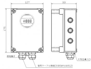 2線式水位計用 中継ボックス TU1200DL / 株式会社ジェイテクト【30日出荷】
